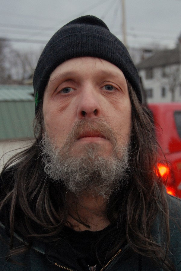 Jeff Rushlow is a Millinocket resident whose apartment at 236 Katahdin Ave. took heavy damage in a fire Wednesday, Nov. 28, 2012.