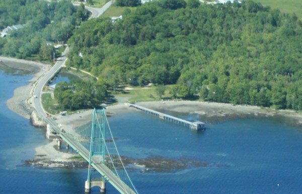 Maine Coast Heritage Trust is currently raising $400,000 to purchase the 2-acre property located at the end of the Deer Isle-Stonington Bridge. The trust will then donate the land to the town of Deer Isle to provide public access.