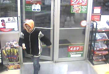 Surveillance image of a suspected of robbing the Orono Circle K at 1:30 a.m. Sunday, Sept. 9, 2012.