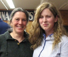 Julie Trudel (left) and Stacy Martin, co-founders of the Black Bear Buying Club in Fort Kent.