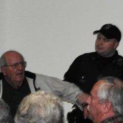 Ouster of elderly man from Searsport tank meeting sparks discord