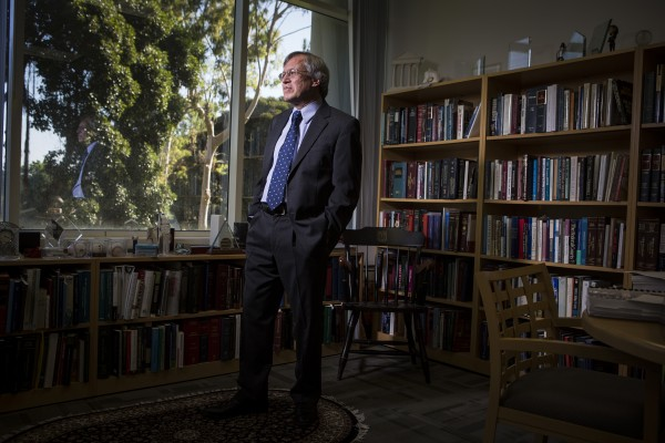 Erwin Chemerinsky, dean of the University of  California, Irvine, School of Law, stands in his office on Oct. 2. The law school opened in 2009 and is one of the most expensive in the nation. Nationwide, the number of new lawyers far exceeds the number of new jobs available for lawyers.