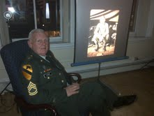 Retired Sgt. 1st Class Philip Flagg of Bangor took amateur photos while serving in Vietnam and put them on display for the first time during the Downtown Bangor Art Walk, held Nov. 16, 2012.