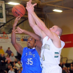Husson men edge Saint Joseph's