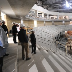 Cross Insurance patriarch takes ceremonial seat at $65 million Bangor arena