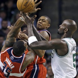 Rondo, Pierce and Garnett help Celtics top Wizards