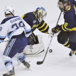 Defenseman Billy Norman fills in nicely at center for Black Bears