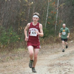 Oliver Broughton - Freshman George Stevens Academy - First Junior finisher. Thirs overall.