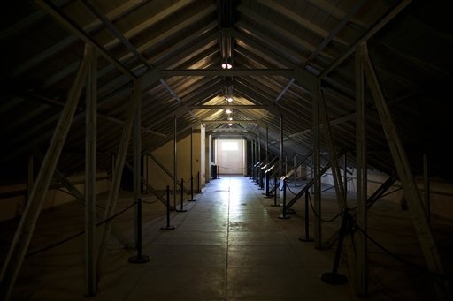 Pictured is an attic known in Spanish as &quotcapucha,&quot or &quothood&quot in English, a place where detainees were hooded and believed to be tortured at the former Argentine Navy School of Mechanics during the country's 1976-1983 military dictatorship in Buenos Aires, Argentina on Tuesday, Nov. 27, 2012.  The third trial for those accused of human rights abuses believed to have been committed inside the school begins Wednesday.  Human rights groups say that more than 5,000 political prisoners passed through its torture chambers and fewer than half survived. The former school is now a museum honoring the victims.