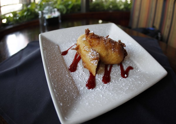 A fried Twinkie is shown at ROXX Tavern in Atlanta on Friday, Nov. 16, 2012. Hostess Brands Inc., the maker of Twikies and other iconic childhood treats including Ding Dongs, Wonder Bread and Drakes, is winding down its operations after struggling to keep up with rising labor costs and the ever-changing tastes of Americans, who have grown accustomed to a dizzying array of new snacks flooding supermarket aisles every year.