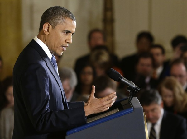 President Barack Obama gestures as he answers a question during a news conference in the East Room of the White House in Washington, Wednesday, Nov. 14, 2012. The president touched on various topics including the widening sex scandal, UN Ambassador Susan Rice and possibly meeting with his recent presidential rival Mitt Romney.