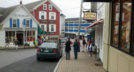 "Recent ""walkability audits"" in Boothbay Harbor (above) and Rockland by a nationally renowned consultant showed that while large-scale road and sidewalk projects are expensive, there are a lot of relatively inexpensive ways to make a big difference for pedestrians."