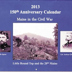 Civil War calendar features Maine photos, information