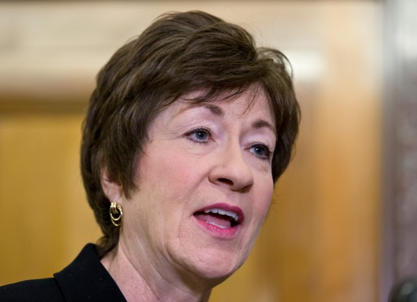 Sen. Susan Collins in November.