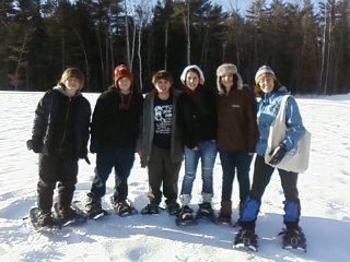 Cony High School Outing Club gets snowshoes