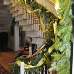 The halls are decked out for the holidays and will get visitors into a festive mood at an Open House Saturday and Sunday, Dec.1-2, at Montpelier in Thomaston.