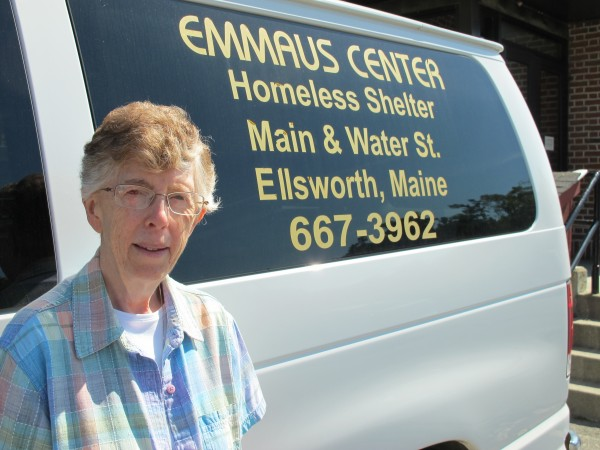 Sister Lucille MacDonald, director of the Emmaus Homeless Shelter in downtown Ellsworth.