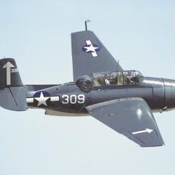 Harlan Gardner of Marshfield flew in a Grumman TBF Avenger similar to this restored model.