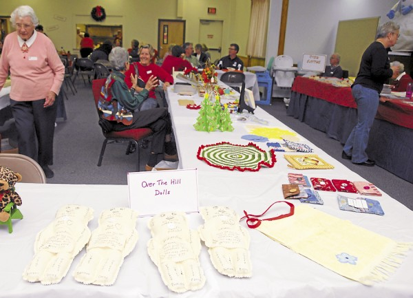 Knit items were among the Christmas-gift ideas on sale during the Holly Jolly Fair held Nov. 3 at the First United Methodist Church in Bangor.