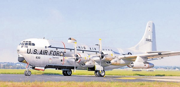 In autumn 1964 Jim Mabry was flying on a KC-97 Stratotanker similar to this aircraft on a mission from Bangor to Puerto Rico. The Bermuda Triangle almost claimed the plane during its return flight.