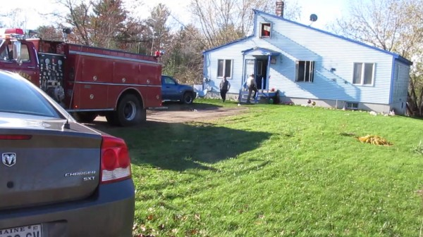 Law enforcement officials from several agencies spent much of early Friday, November 2, 2012, at this home at 204 Upper East Pond Road in Nobleboro while two men who had threatened violence against guests and deputies who responded to a noise complaint at about 2 a.m. Friday.