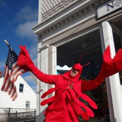 Lobster Claus visits Lubec