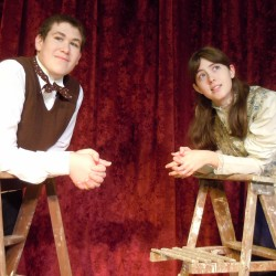 Will Martin of Milford as George Gibbs and Jessie Walker of Orono as Emily Webb in the Orono Community Theatre production of Thornton Wilder's OUR TOWN