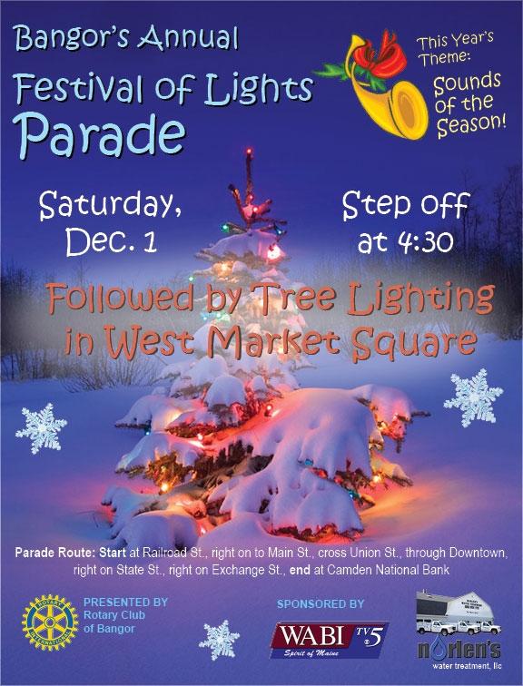 Festival of Lights Parade on December 1