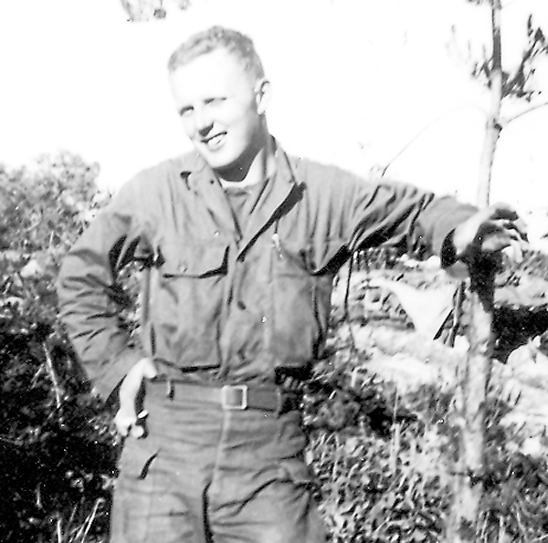 Drafted into the Army in October 1950, Paul Martin served as a combat infantryman in Korea with the 25th Infantry Division. This photo was taken in Korea in 1951.