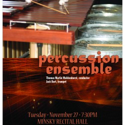 UMaine Percussion Ensemble Poster