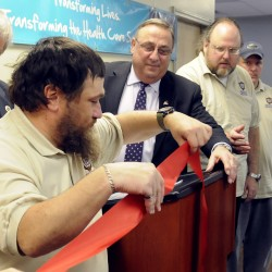 Gov. LePage honored for work with Waterville project to help mentally ill