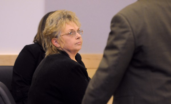 A Penobscot County jury found Meredith Purcell (center) of East Millinocket guilty Friday afternoon of theft by unauthorized taking and misuse of entrusted property.  Purcell stole more than $84,000 from her elderly mother.