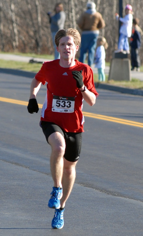 Nick Wheeler of Bangor was the overall winner of the 31st annual Turkey Trot in Brewer on Sunday. His time of 14:48 also set a new course record. This year's 3-mile race along Dirigo Drive presented by the  Sophomore class of Brewer High School was the largest turnout so far with 781 runners participating.