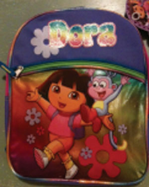 Dora backpack by by Global Design Concepts Inc. is a problem because it was tested at 320 ppm DBP, which is below  federal standard (1000 ppm) but 