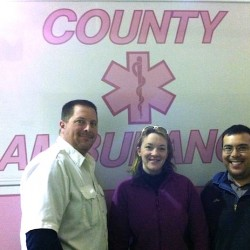 County Ambulance goes pink for Breast Cancer Awareness