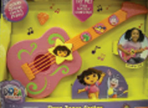 Dora guitar by Fisher-Price is a problem because prolonged exposure to loud noises harms small children's hearing.
