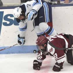 Lomberg's late goal lifts UMaine hockey team by Mercyhurst