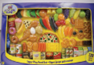 Super Play Food Set by Geoffrey LLC is a problem because it looks as if it should be eaten.