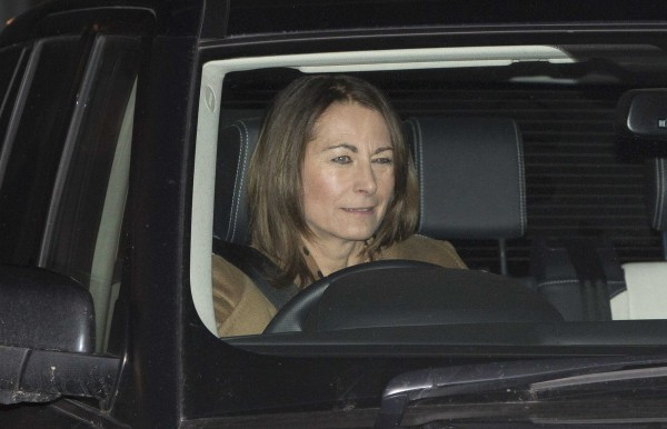 Carole Middleton leaves the King Edward VII hospital where her daughter Catherine, Duchess of Cambridge is being treated in London.