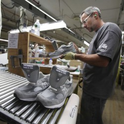 Snowe tours New Balance factory, stresses importance of footwear manufacturing jobs in U.S.