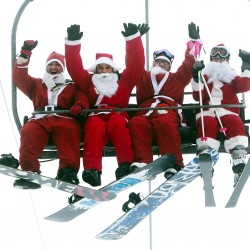 Santa Sunday at Maine ski resort