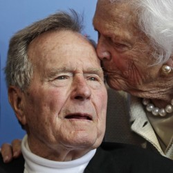 George H.W. Bush stable after weekend in hospital