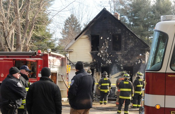 Two people were found dead after a fire inside this building on Hillside Road in Orono on Sunday morning, Dec. 23, 2012.