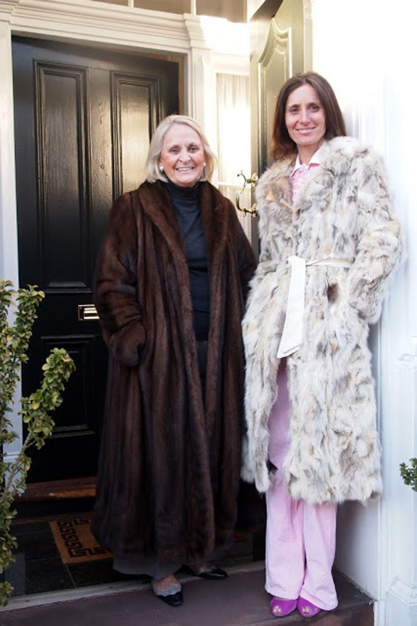 Siobhan McDonough (right), author of the 2012 book &quotMy Mother's Dressing Room,&quot poses for a photo with her mother, Janet Watkins, the woman who inspired her love for fashion. McDonough is wearing a rabbit fur coat that she found in a Maine antique shop for $29, one of her favorite finds.