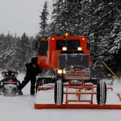 Maine snowmobilers hope big storm forecasts are true