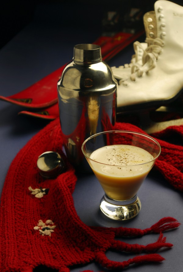 The best way to keep warm this holiday season is with a festive twist on the nog and toddy. Here, Southpaw's Tugboat Egg Nog.