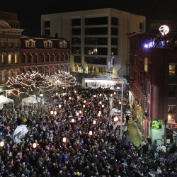 Revelers crowd downtown Bangor to celebrate New Year's