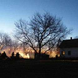Melted water pipes help save burning Bucksport home