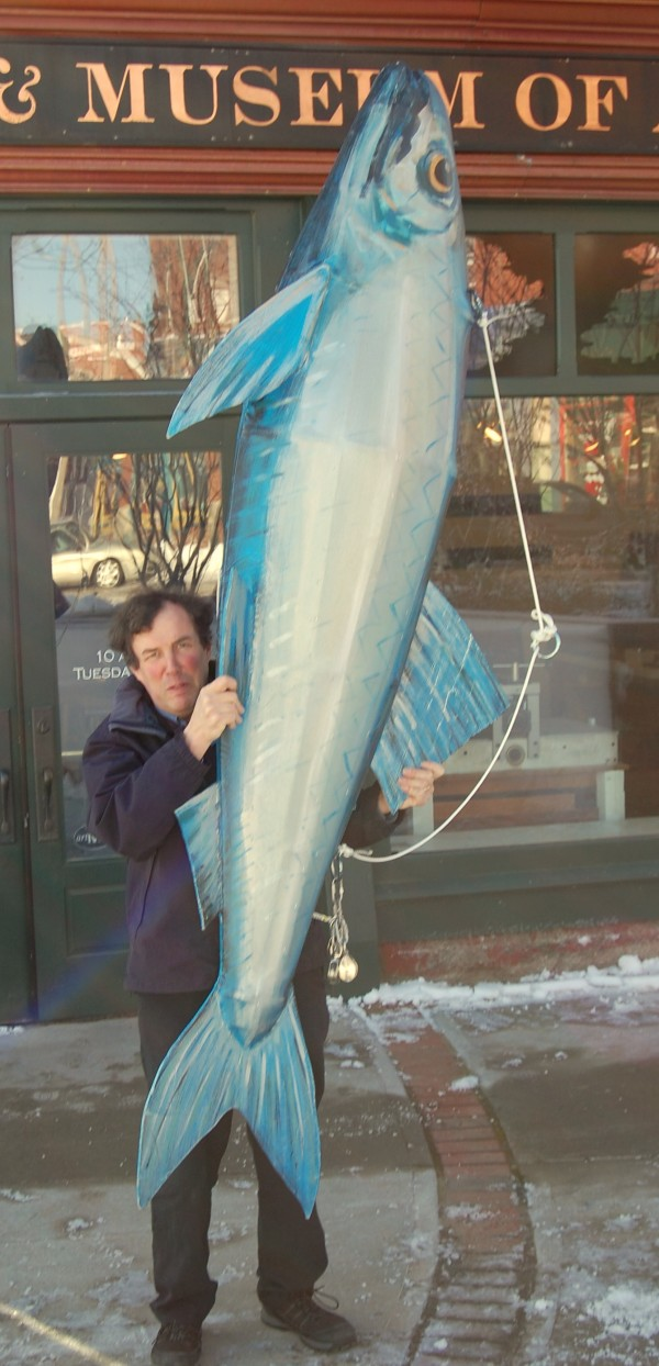 Hugh French is among the founders of Eastport's annual New Year's Eve celebrations, which includes a midnight countdown and dropping the Great Sardine, a 10-foot sculpture by Bill Schaefer of East Machias.