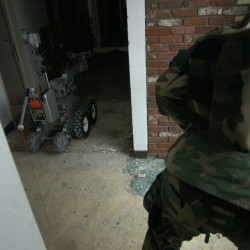 Disaster response team tests abilities using robot in Brunswick
